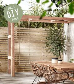 The pergola kits are the easiest and quickest way to build a garden pergola. There are lots of do it yourself pergola kits available to you so that anyone could easily put them together to construct a new structure at their backyard. Diy Pergola, Pergola Canopy, Pergola Swing, Wooden Pergola, Outdoor Pergola, Outdoor Decor, Pergola Ideas, Patio Table, Backyard Patio