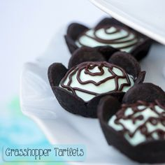 Grasshopper Tartlets recipe - perfect for St. Patrick's Day!