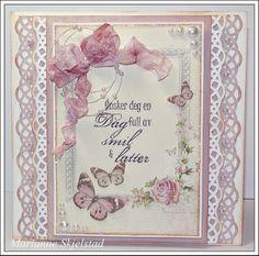 Mariannes papirverden.: Pion Design - Flower Frames
