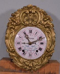 Antique French Comtoise Morbier Clock Circa 1899