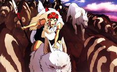 Princess Mononoke wolves boar San (Princess Mononoke) wallpaper ...