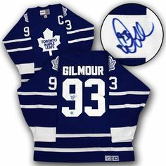 DOUG GILMOUR Toronto Maple Leafs SIGNED Retro CCM Hockey HOF-11 JERSEY . $398.05. This is an official licensed SIGNED Doug Gilmour Toronto Maple Leafs jersey. The jersey is brand new with all of the lettering and numbering professionally sewn on. The player has beautifully signed the number. To protect your investment, a Certificate Of Authenticity and tamper evident hologram from A.J. Sports World is included with your purchase.