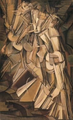 """""""Nude Descending a Staircase, No. By Marcel Duchamp is his very famous painting. Nude Descending a Staircase, No. 2 is a 1912 painting by Marcel Duchamp. The work is widely regarded as a Modernist classic and has become one of the most famous of its time. History Of Modern Art, Art History, History Books, Cubist Art, Art Ancien, Poster Art, Philadelphia Museum Of Art, Photocollage, Descendants"""