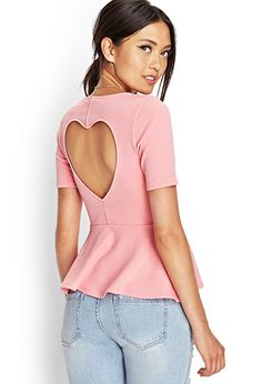 Refined Textured Peplum Top   FOREVER21 - 2000126287