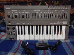 MATRIXSYNTH: Vintage Roland SH-101 Analog Synthesizer SN 585929...