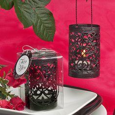 Black or White Metal filigree design luminary favor-$2
