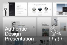 RAVEN Keynote Presentation Template by GoaShape on @creativemarket