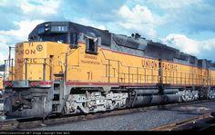 UP 71--DD35A   Description:    Photo Date:  5/24/1969  Location:  Portland, OR   Author:  G. Berisso  Categories:    Locomotives:  UP 71(DD35A)