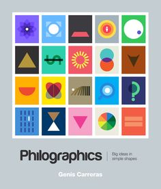 Philographics: Big Ideas in Simple Shapes Genis Carreras A visual dictionary of philosophy – major schools of thought in minimalist geometric graphics: Simple Colors, Simple Shapes, History Of Philosophy, Philosophy Major, Buch Design, Visual Dictionary, Symbolic Representation, Graphic Design Inspiration, Color Inspiration