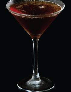 Wake up your inner Cheermeister with a Meistertini: 1 ½ oz Jägermeister, chilled, ¾ oz sweet vermouth, ⅓ oz maple syrup, 1 ½ oz espresso - Combine all ingredients in a mixing glass filled with ice. Stir vigorously and strain into a chilled martini glass. Thanksgiving Cocktails, Fall Cocktails, Espresso Martini, Maple Syrup, Cocktail Recipes, Pumpkin, Ice, Tableware, Glass