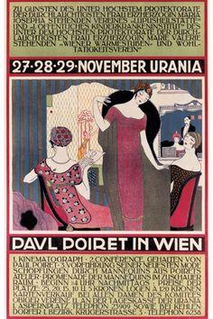 illustration : affiche, Paul Poiret à Vienne, novembre 1911, défilé dde mode, 1910s