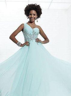 Elegant Sage Chiffon Sleeveless One-Shoulder Long Prom Dresses In Stock kaladress11542
