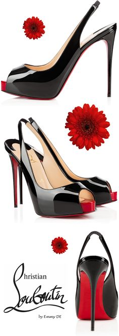 Brilliant Luxury by Emmy DE Christian Louboutin Private Number Sling Back