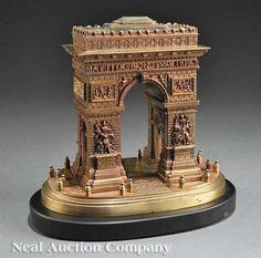 Gilt Bronze Grand Tour Model of Arc de Triomphe