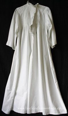 1900 Nightie Traditional Style Late Antique