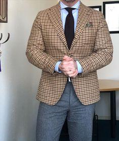 The Papa Bear of Men's Fashion Flannel Suit, Bowler Hat, Classic Wardrobe, Business Outfits, Dog Days, Dapper, Bespoke, Men Dress, Nice Dresses