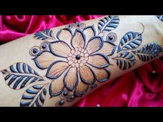 Simple Mehndi Designs, Mehndi Designs For Hands, Henna, Floral Design, Make It Yourself, Unique, Easy, Youtube, Floral Patterns