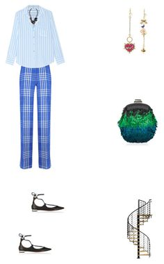 """""""Grace"""" by zoechengrace on Polyvore featuring Dondup, Equipment, Aquazzura, Betsey Johnson, Nocturne and Jimmy Choo"""