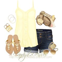 Love the yellow tank top