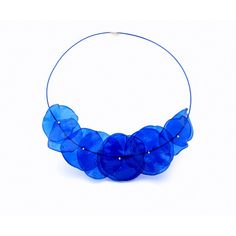 Plastic Bottle Crafts, Plastic Jewelry, Crystal Jewelry, Silver Jewelry, Unique Jewelry, Blue Necklace, Beaded Necklace, Statement Necklaces, Jewelry Necklaces