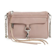Mini mac convertible crossbody bag by Rebecca Minkoff. An oversized clip-lock gleams at the front flap of a rich leather crossbody, while an optional chain strap lets you s...