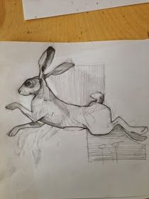 Animal Paintings, Animal Drawings, Art Drawings, Hare Illustration, Illustrations, Linoprint, Rabbit Art, Street Art, You Draw