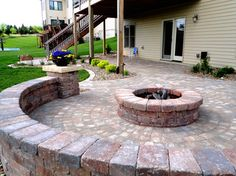Patio & Fire Pit - traditional - Patio - Cedar Rapids - Country Landscapes, Inc.