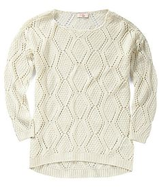 GB Girls 7-16 Hi-Low Pointelle Sweater | Dillards.com