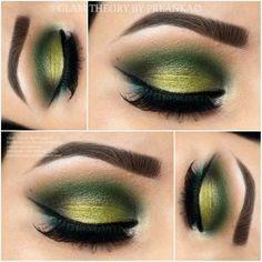 green eye Makeup <3