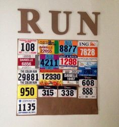 Reader Race Bib Displays - Women's Running