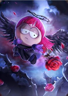 Dark Angel Rebecca (Red) Card in South Park phone destroyer