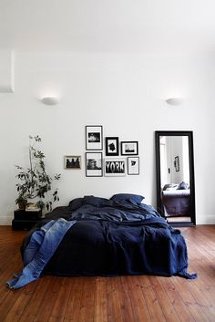 Chambre adulte bleue