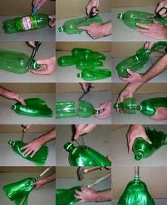 DIY broom made out of soda bottles Recycled pet bottle and make a broom Discover thousands of images about How to make a broom recycling plastic bottles! How To Make a Broom From Soda Bottle. This is a great DIY project for recycling soda bottles and repu Empty Plastic Bottles, Plastic Bottle Crafts, Recycled Bottles, Plastik Recycling, Recycler Diy, Diy Pet, Diy Bird Feeder, Pet Bottle, Diy Crafts