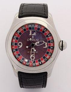 Corum stainless steel Casino Bubble roulette wheel wristwatch