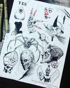 "2,319 Likes, 87 Comments - Frank Daniel Duarte (@seventhtowerart) on Instagram: ""$31 (+tip) Tattoo Flash Halloween Sale Thing! OCT 23 - OCT 31!!! DM to book your appointment now! …"""