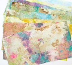 TUTORIAL - Paper Towels: Stamped, Punched then Collaged (into art or cards) (Love her tutorials)