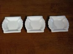 Vintage Johnson Brothers English Ironstone China Butter Pats- Tea Bag Rest- Spoon Rest- Home Decor- Shabby Chic Decor- Collectible China