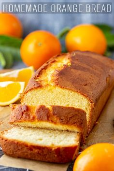 Orange Bread Recipe – Happy Foods Tube A slice of homemade orange bread is the perfect treat for breakfast or coffee break. Delicious on its own but addictive with a generous layer of butter and your favorite jam. via Happy Foods Tube Loaf Cake, Bread Cake, Dessert Bread, Fruit Bread, Coffee Break, Cake Candy, Pause Café, Happy Foods, Food To Make