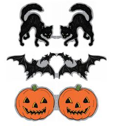 Black Cat Cupcake Toppers, Halloween Cupcake Toppers ...