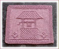 """Wishing Well"" ""Lots of Love"" ""Greek Key Design"" Knit Dishcloth Pattern Knitting Squares, Dishcloth Knitting Patterns, Crochet Dishcloths, Loom Knitting, Free Knitting, Crochet Patterns, Sweater Patterns, Stitch Patterns, Knitting Designs"