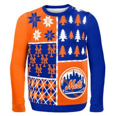 New York Mets MLB Ugly Sweater Busy Block available at uglyteams ...