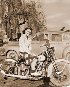 We have a long, rich history of riding and not just acting as an ornament standing next to one wearing a bikini with the motor turned off.