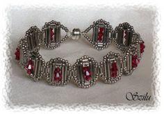 Beaded Bead PATTERN bracelet Szilu Cleopatra (Kleopátra)