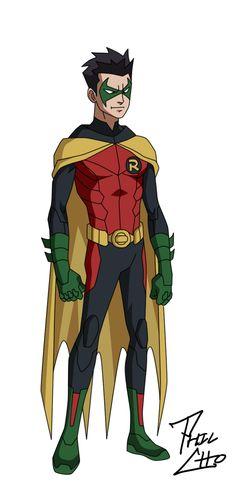Robin: Damian Wayne by phil-cho.deviantart.com on @deviantART