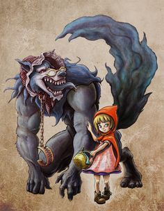 Red Riding Hood and Wolf