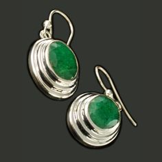 6ce2ccc9c9b Brincos em prata com esmeraldas indianas naturais