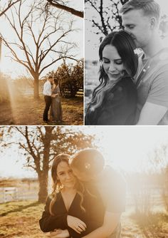 Golden Hour Engagement Photos at Sunset in Texas, The Acre Abilene