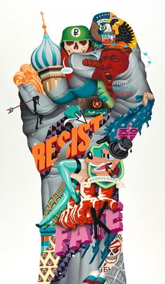 Juxtapoz Magazine Tristan Eaton All Mixed Up - Since Tristan Eatons New Show Uprise Opens This Month At Galerie Itinerrance In Paris Were Revisiting The Essay On Eaton By Carlo Mccormick From Our July Issue Check Out The Photos Kobra Street Art, Murals Street Art, Street Art Graffiti, Mural Art, Desenho New School, Pop Art Wallpaper, Arte Pop, Collage Art, Photo Art