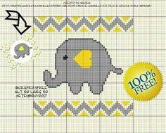 Ideas crochet patterns cute amigurumi for 2019 Elephant Cross Stitch, Cross Stitch Alphabet, Cross Stitch Baby, Cross Stitch Animals, Cross Stitch Kits, Cross Stitch Borders, Cross Stitching, Cross Stitch Embroidery, Cross Stitch Patterns