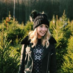Zoe & Christmas tree's - two of my favourite things